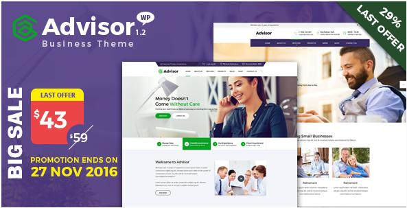 Advisor | Consulting, Business, Finance WordPress Theme