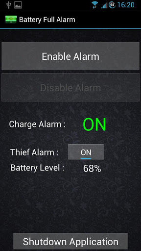 Alarm Anti-Theft Lock Screen