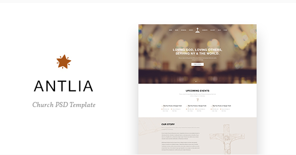 Antlia - Church PSD Template