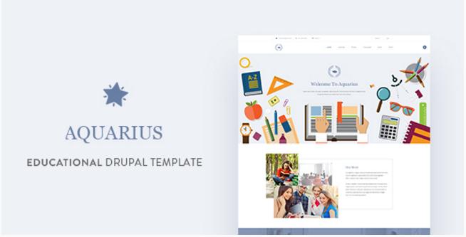 Aquarius - Educational University Drupal Template