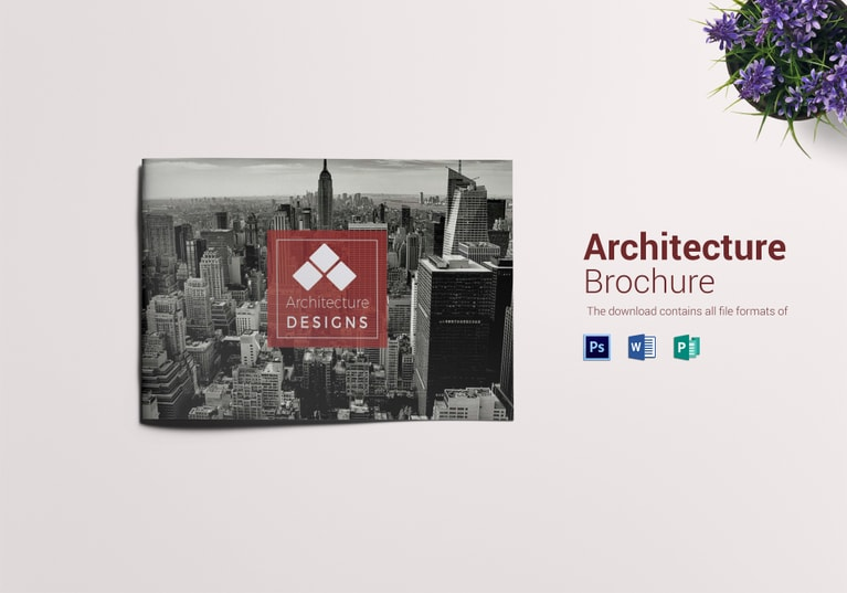 Architecture Brochure Landscape Template