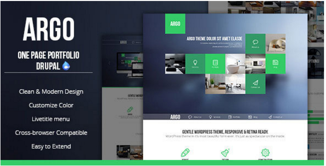 Best OnePage Drupal Themes
