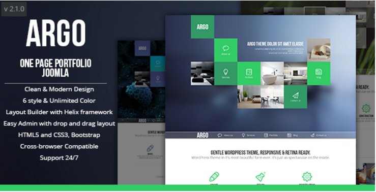 Argo OnePage Bootstrap Metro UI Joomla template