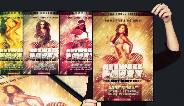 Artwork-party-flyer-psd