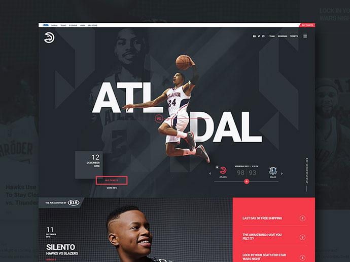 Atlanta Hawks by Jeff Corey