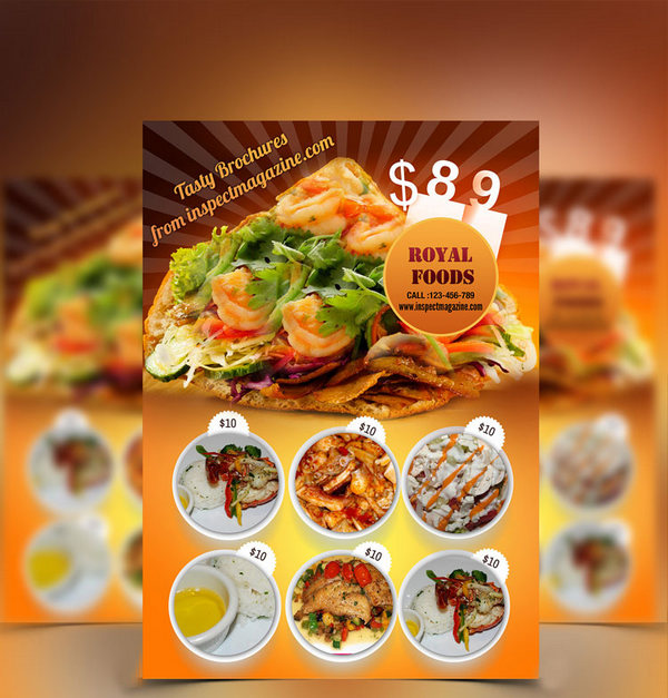 Awesome Restaurant brochure PSD