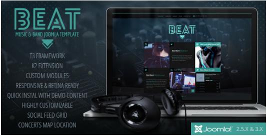 BEAT: One Page Joomla Templates