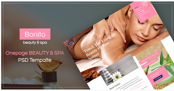 BONITO - beauty & spa Onepage PSD Template