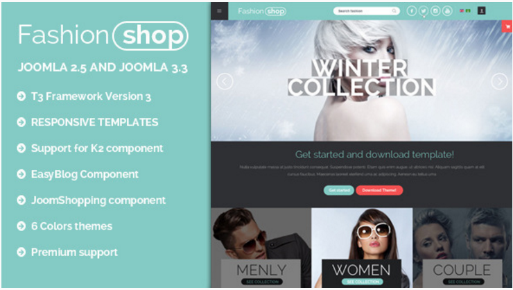 BT Fashion Ecommerce Joomla responsive templates