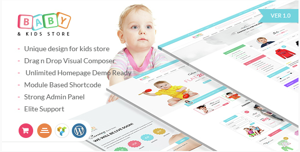 Baby & Kids Store eCommerce WordPress Theme