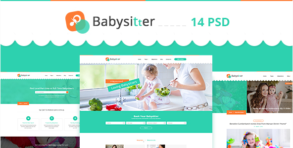 Babysitter - Directory Babysitting PSD Template