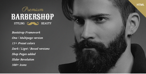 BarberShop - Hair Saloon Spa Tattoo HTML Template