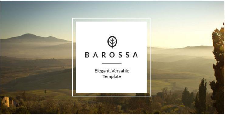 Barossa - Versatile One Page Joomla Template