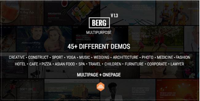 Berg - Multipurpose One Page & Multi Page Theme