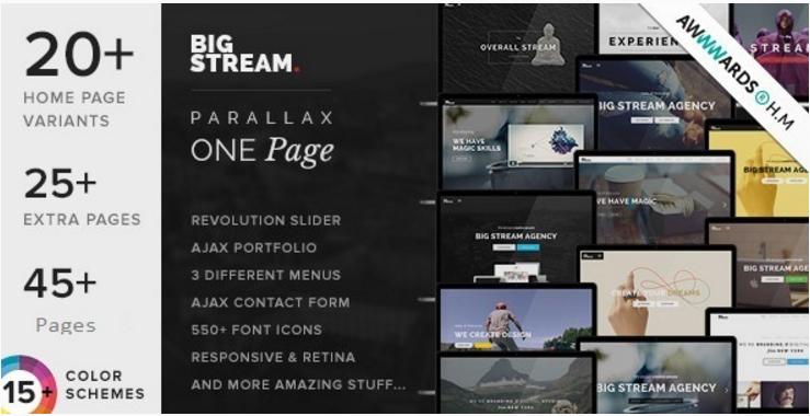 BigStream - One Page Multi-Purpose Joomla Template