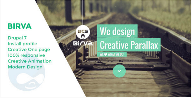 Birva - Creative One Page Drupal Theme