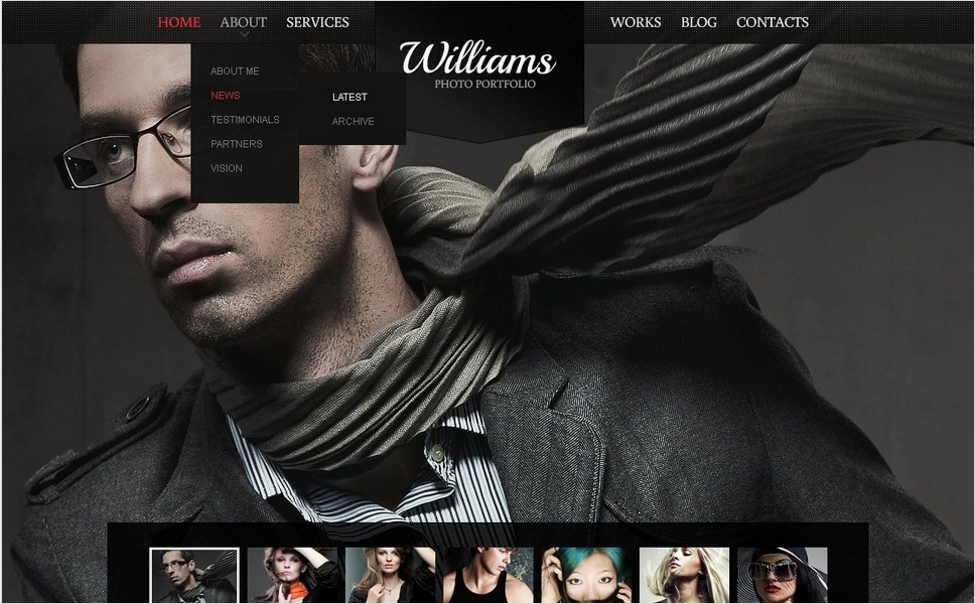Black Photography Drupal Template