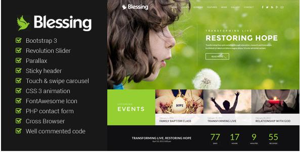 Blessing - Church Website Template