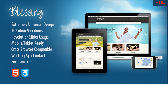 Blessing  Responsive Church & Charity Site Template