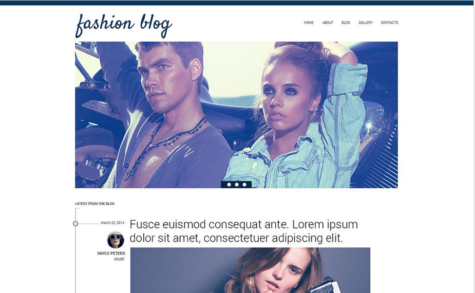 Blog About Fashion Drupal Template