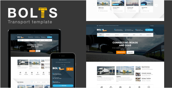 Bolts Transport - Transportfreight Business Template
