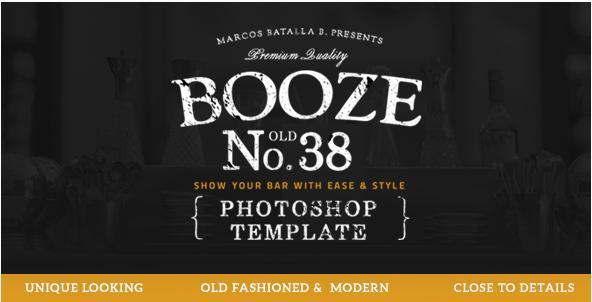 Booze Photoshop Bar Template