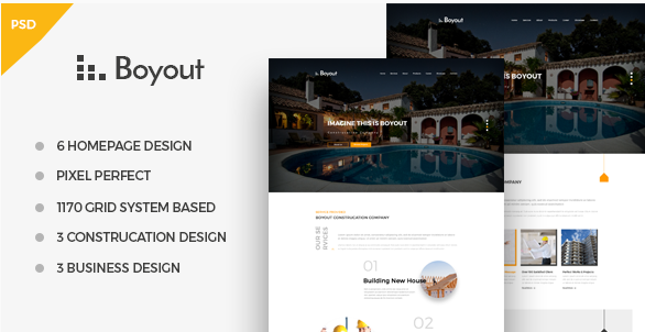 Boyout ­Construction & Business PSD Template
