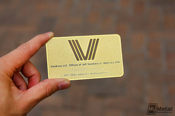 Brass-Finish-Card-With-Die-Cut-Logo
