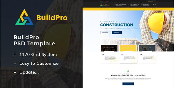 BuildPro - Construction PSD Templates
