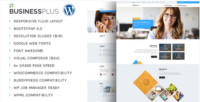 Business Plus - Corporate Business WP Theme
