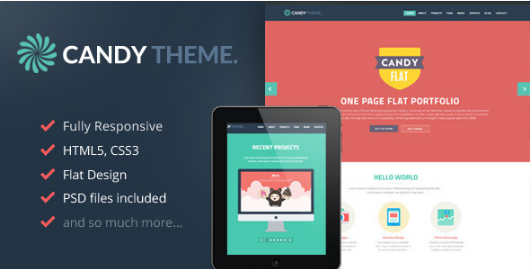 CANDY HTML5 One Page Website Templates