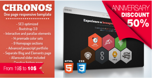 CHRONOS HTML5 One Page Website Templates