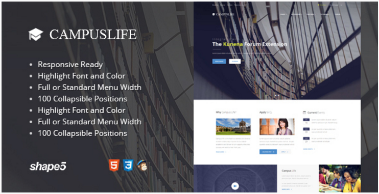 Campus Life - Responsive Education Template