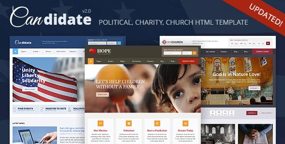 Candidate - PoliticaNonprofitChurch HTML Theme