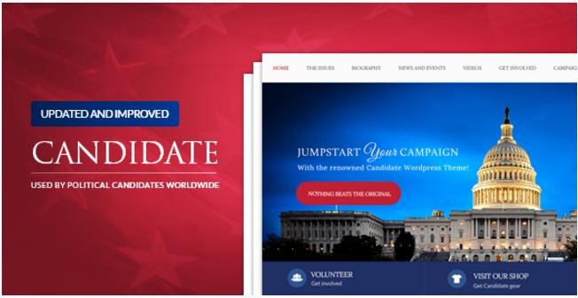 Candidate - Political WordPress Theme