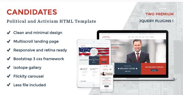 Top Political HTML Templates