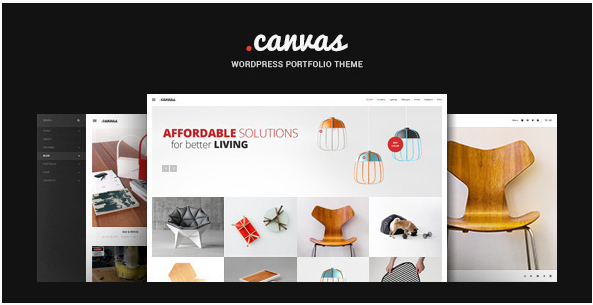 Canvas Interior & Furniture Portfolio WP Theme