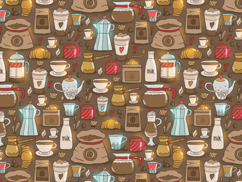 Cappuccino-Doodle-Coffee-Pattern