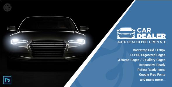 Car Dealer - Auto Dealing PSD Template