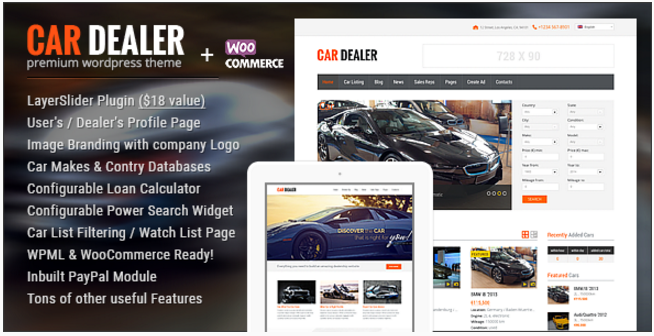 Car Dealer Automotive WordPress Theme – Responsive