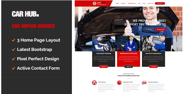 Car Hub Auto Mechanic & Car Repair Template