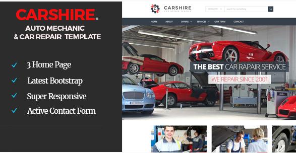 Car Shire  Auto Mechanic & Car Repair Template