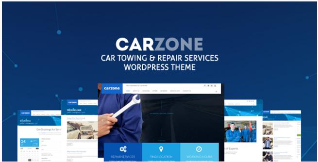 Car Zone - Towing & Repair WordPress Theme