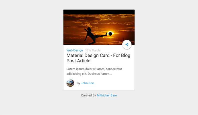 Card – For Blog Post Article