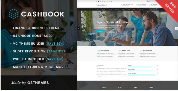 Cashbook - Business and Finance WordPress Theme