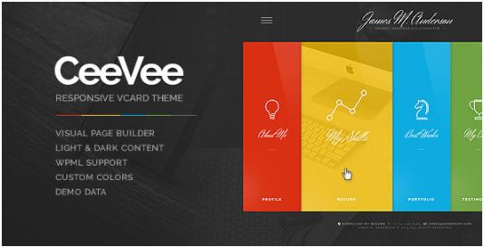 CeeVee - Responsive CV Resume WordPress Themes