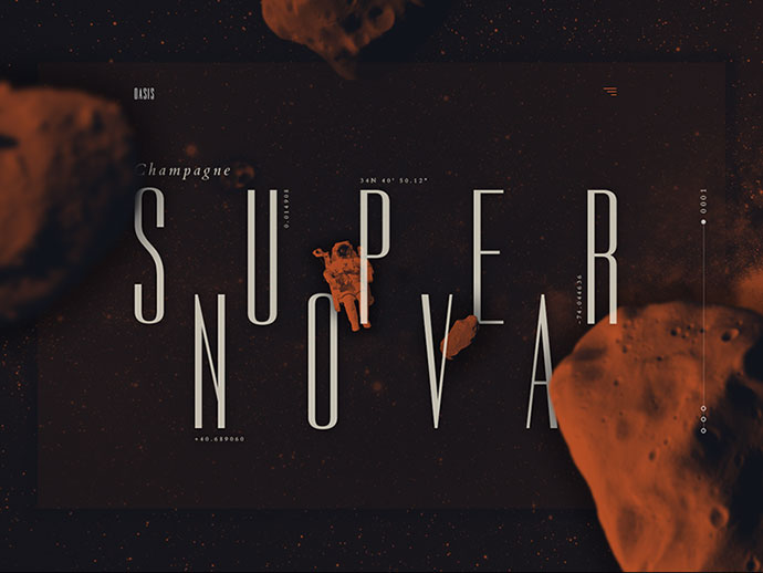 Champagne Supernova Landing by Adrián Somoza