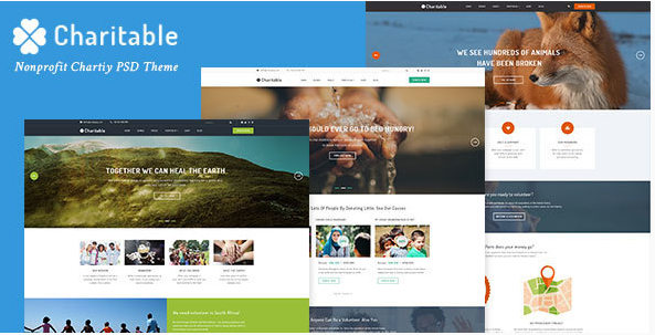 Charitable - Nonprofit Organization PSD Theme