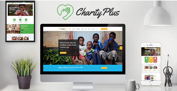 CharityPlus - Multipurpose Nonprofit Charity Organization PSD Template