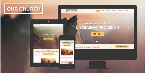 Church Website Template Responsive - Our Church